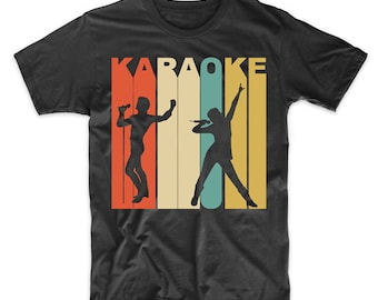 Retro Karaoke Shirt - Vintage 1970's Style Karaoke Singers T-Shirt by Really Awesome Shirts