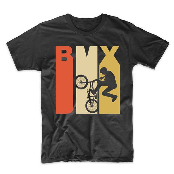 Newborn Childrens Retro 1970s Style BMX Silhouette Printed Long Sleeve 100/% Cotton Infants Clothes