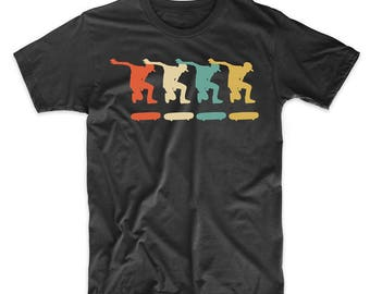 Skater Retro Pop Art Skateboarding Graphic T-Shirt by Really Awesome Shirts