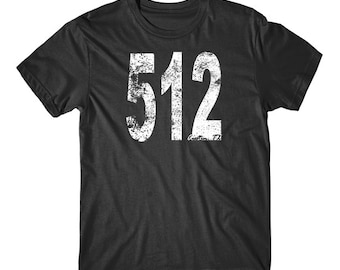 Vintage Style Austin Area Code 512 T-Shirt by Really Awesome Shirts