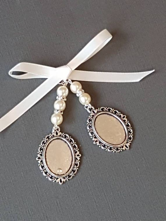 Double Bridal Wedding Bouquet Charm Photo Frame Charm Oval Etsy