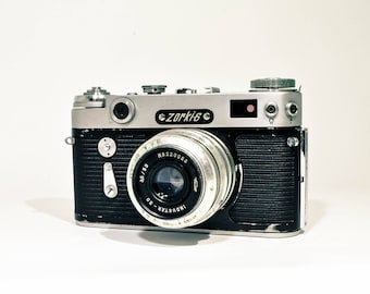 Zorki 6 Camera, Soviet Leica Copy, Camera with lens Industar 50, FREE SHIPPING