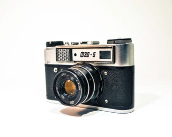 Sale FED 5 Camera. Vintage Rangefinder Camera with lens Industar-61, Soviet Leica Copy FREE SHIPPING