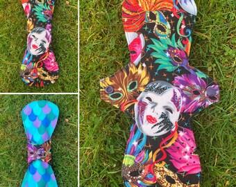 """10"""" 'Carnival' moderate cloth menstrual / sanitary pad FREE SHIPPING"""