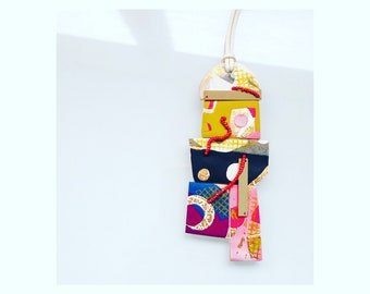 Multi shape  polymer clay wallhanging