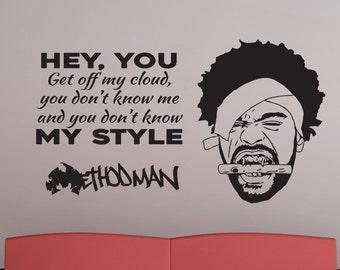 Rza Quote Vinyl Wall Decal Hip Hop Rap Wu Tang Clan | Etsy