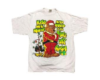 867f8b17 Vintage Christmas Bear T Shirt Size (XL)