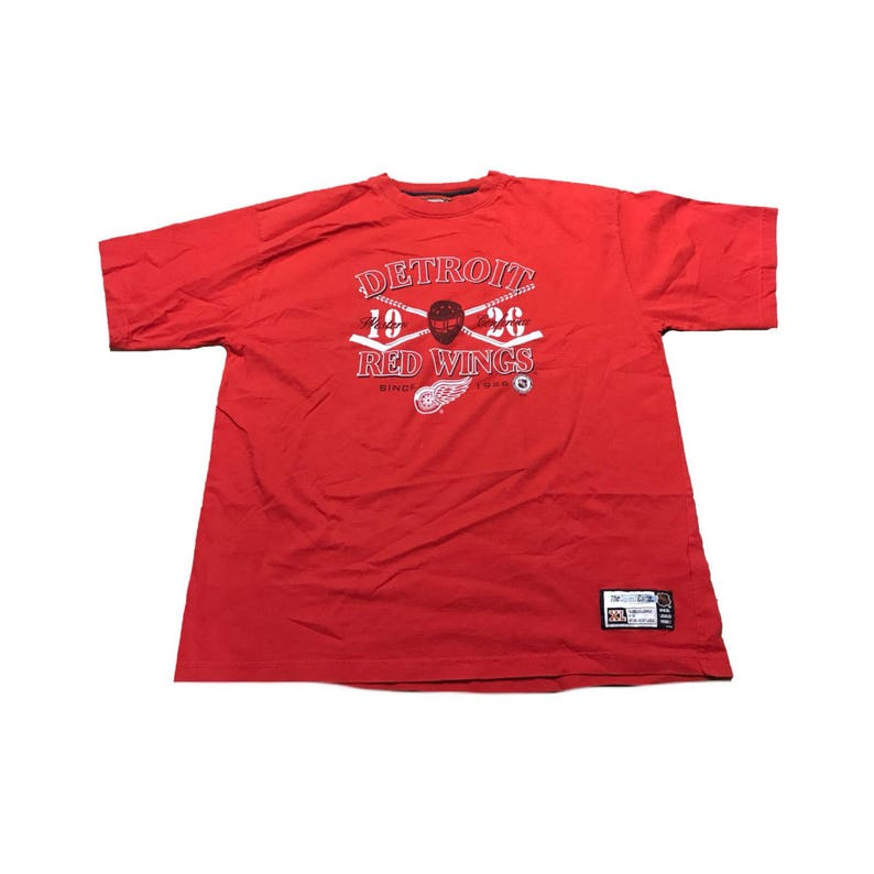 Detroit Red Wings T Shirt Size Xl Etsy