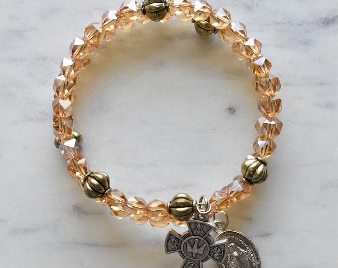 rosary wrap bracelet | Elizabeth