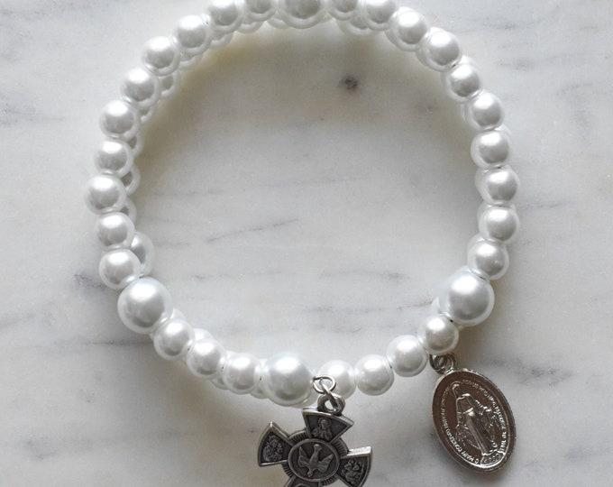 rosary wrap bracelet   Maria Goretti