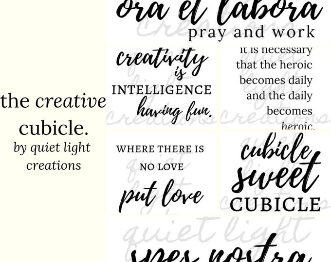 the creative cubicle collection