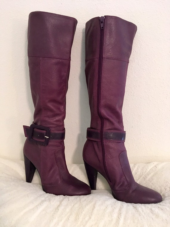 Miss Sixty Sexy 1980's style purple boots