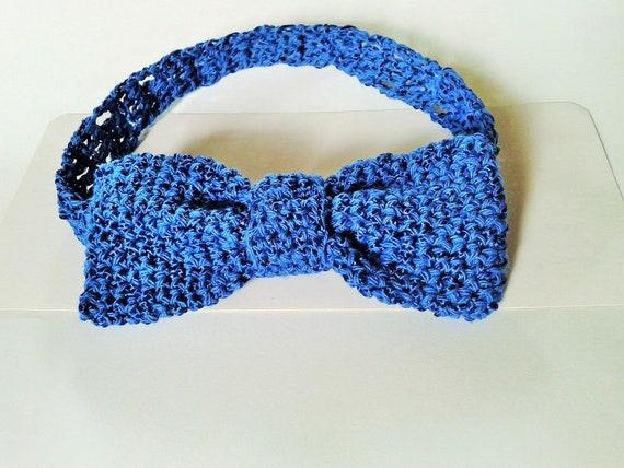 Blauw Strikje Voor Mannen Strikje Haak Etsy