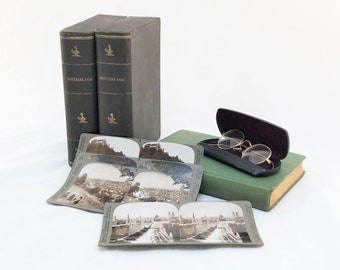 Rare and Complete Underwood  Stereographic Cards of Switzerland 100 Piece Set / Stereoview Cards / Stereoscope Cards / Photos of Switzerland