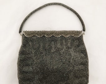 FREE SHIPPING Bags by Josef - Gray Purse   Handbag   Clutch   Made in  France   Hand Beaded 3fa6670380