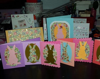 Set of 6 Easter Greeting Cards Blank