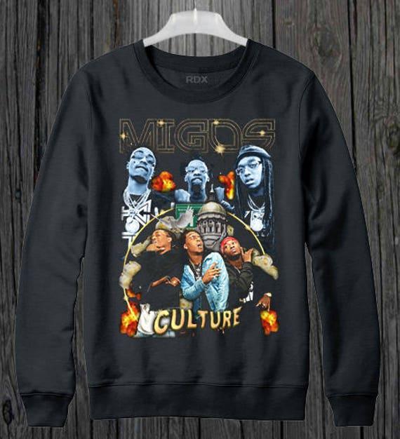 Migos Culture Hip Hop Bootleg Sweater/jumper 9l1VChCpJC