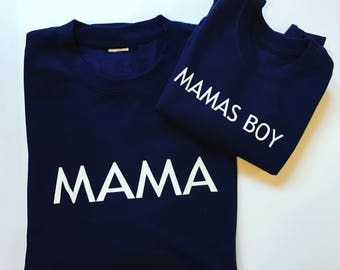 Mama sweater set, mummy and me, sweater set, mama, mamas boy, mama and me, mummy and toddler, jumper, sweater set,