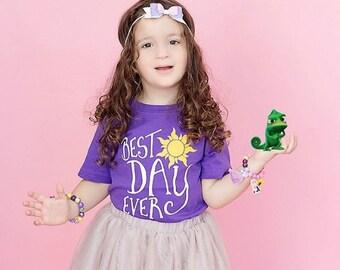 Best Day Ever Shirt - Girls Rapunzel Shirt - Princess Shirt - Toddler Shirt - Graphic Tees - Birthday Shirt - Disney Vacation - Family Tees