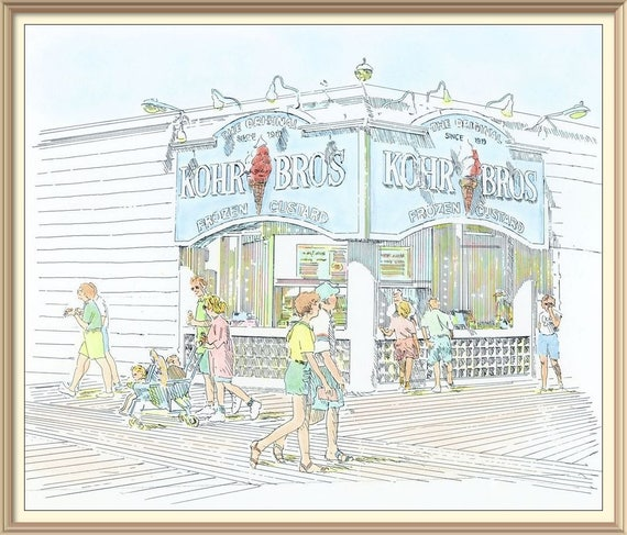 Kohr Brothers on the Ocean Boardwalk at 9th Street