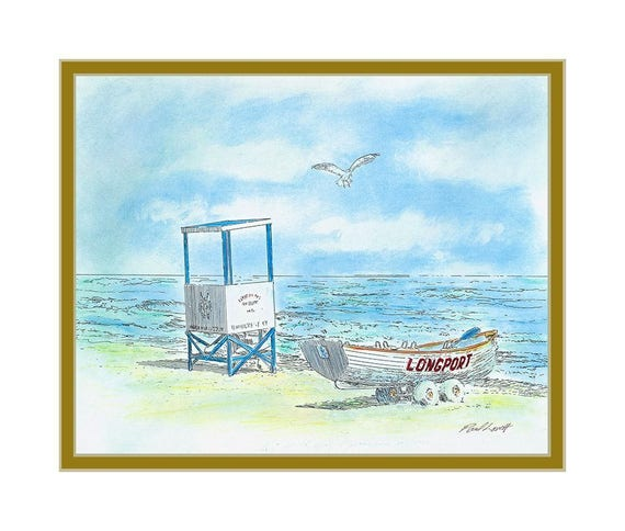 Longport Lifeguard Stand and boat