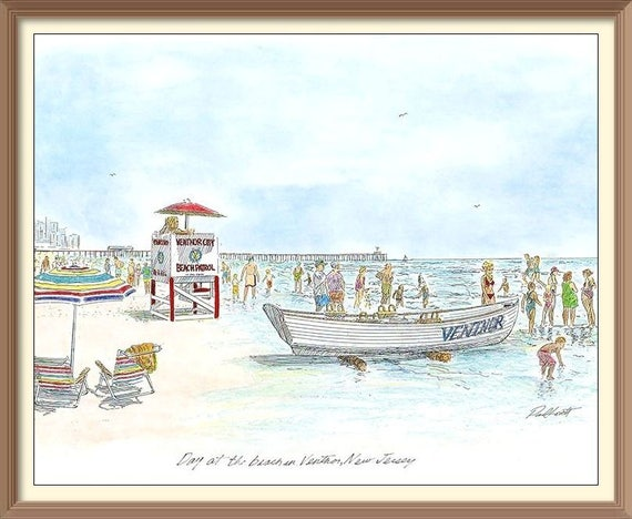 Day at the Beach in Ventnor, New Jersey