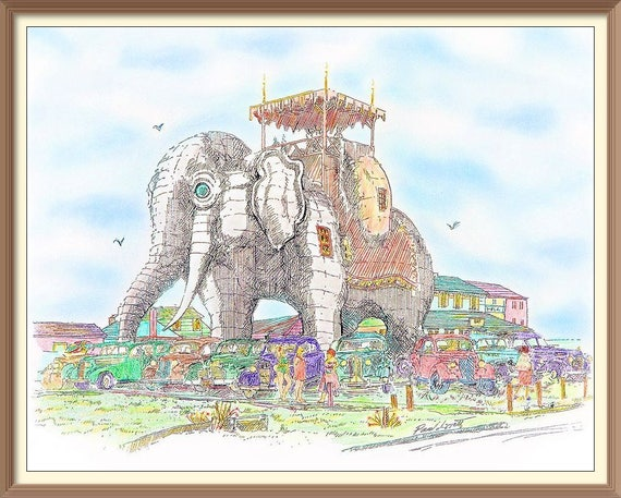 Cartoonish Lucy the Elephant