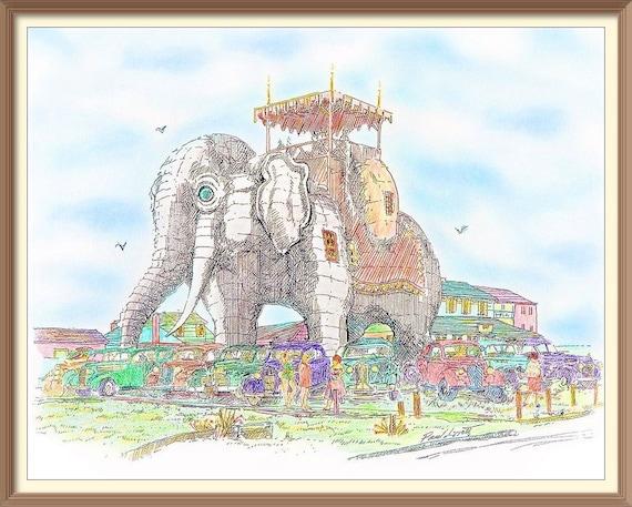 Cartoonish Lucy the Elephant