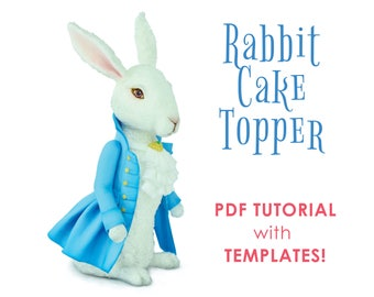 Rabbit Cake Topper TUTORIAL with TEMPLATES