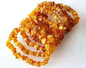 Amber healing bracelet raw amber bracelet rough unpolished amber bead bracelet baltic amber stretch bracelet jewelry for anxiety gift ideas