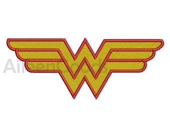 Wonder woman Logo Embroidery  design 11 Size  INSTANT download machine embroidery