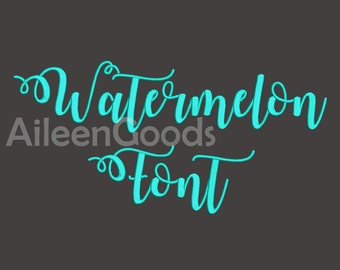 Watermelon Script  Embroidery Font 5 Size  INSTANT download machine embroidery