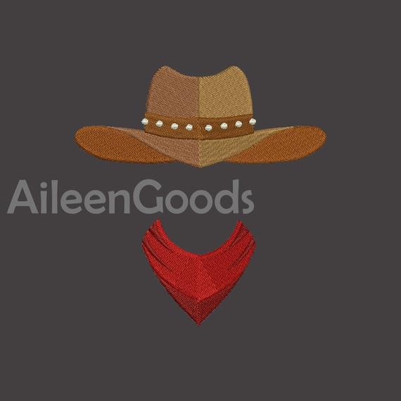 f9e6ce95744 Cowboy hat Embroidery design 7 Size INSTANT download machine