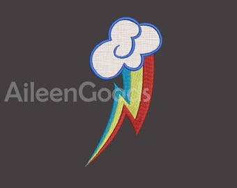 Rainbow Applique Embroidery design 7 Size INSTANT download machine embroidery