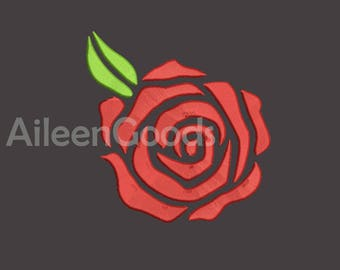 Rose Embroidery  design 8 Size  INSTANT download machine embroidery