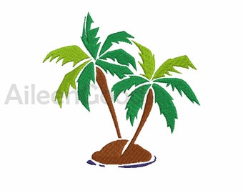 Coconut Tree Embroidery  design 7 Size  INSTANT download machine embroidery