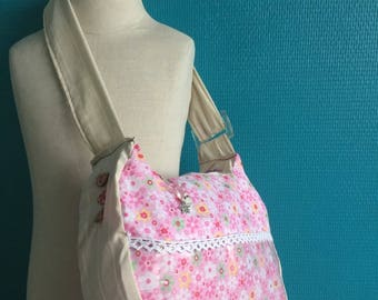 Miminou, pink shoulder bag for girl