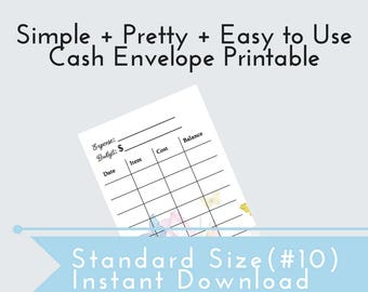 PRINTABLE Cash Envelope Template, Envelope Budget, Budget System, Cash Envelope DIY, Dave Ramsey, Envelope Printable, Envelope Budget, Debt