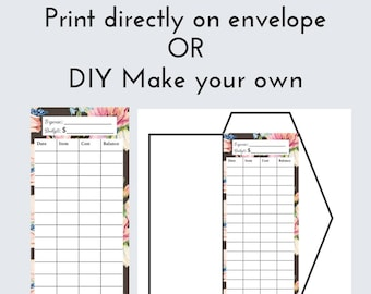 diy cash envelope printable cash budgeting template dave etsy