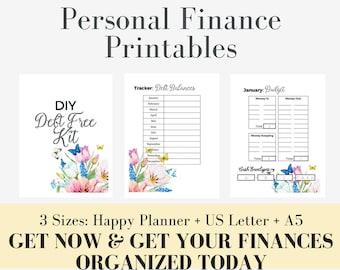 Debt Payoff, Printable Finance Planner, Monthly Budget, Dave Ramsey Debt Tracker, Planner Insert, Snowball, Financial Organizer, Baby Steps