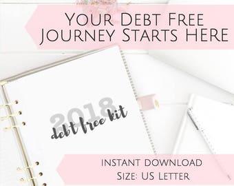 PRINTABLE Dave Ramsey Budget Planner Envelope System Debt Snowball Worksheet Printable