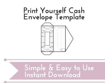 diy cash envelope printable cash budgeting template dave etsy