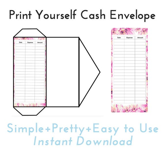 Transformative image for printable money envelope