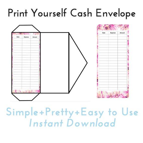 Fan image inside printable money envelope