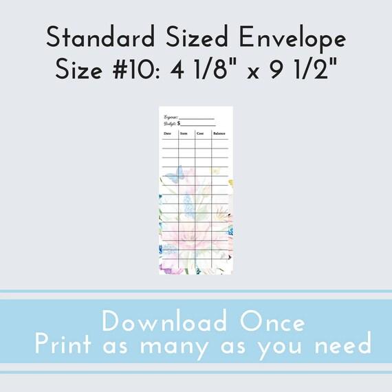 printable cash envelope template envelope budget budget etsy