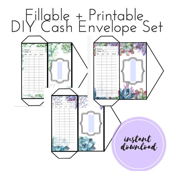 photo relating to Printable Cash Envelopes identified as EDITABLE Do it yourself Revenue Envelopes, FILLABLE Price range Envelopes, Income Envelope Process, Dave Ramsey, Business, Printable Money Envelope Template