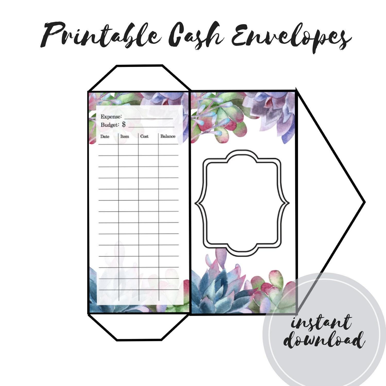 Exhilarating image within printable cash envelopes