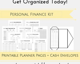Dave Ramsey System PRINTABLE Planner Pages, Budget Envelopes, Printable Cash Envelope and Budget Planner Kit, Debt Snowball, Finance Planner