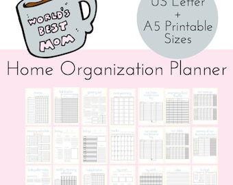 Mom Planner Household Binder PRINTABLE, Family Binder, Home Management, Home Organization, Home Planner, Meal Planner, Cleaning Printable,