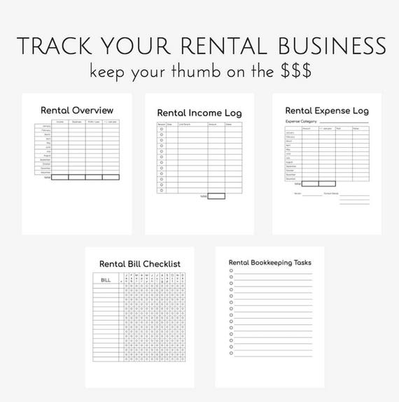PRINTABLE Airbnb, Airbnb Printable, Printable Planner Pages, Rental  Property Management, Airbnb Planner, Rental Property, Landlord Planner